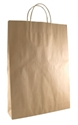 Picture of Carry Bag Brown Paper Twist Handle 480 x 340 + 90 Med/ Large 110gsm -CARB063590- (CTN-250)