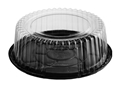 Picture of Cake Dome Combo-Pak 198mm Dia x 100mm High Black Base and Clear Lid-CAKE147404- (SLV-200)