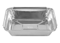 Picture of 7117 Rectangular Foil Container (Small) - 126mm x 101mm Base Dimensions x 26mm High-FCON135595- (SLV-100)