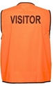 "Picture of Safety Vest Yellow Day Only  Printed ""Visitor""-CLTH831910- (EA)"