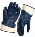 Picture of Dark Blue Heavy Weight Nitrile Coated Safety Cuff Glove - Hercules-IGLV792635- (PR)