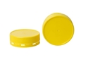 Picture of Lids to suit 375ml Square Plastic Jar - Yellow Tamper Evident-GLAS250401- (EA)