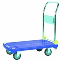 Picture of Platform Trolley - plastic base stainless handles 830 x 550 x 1000mm high handle 250KG-WARE663410- (EA)