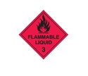 Picture of Hazchem Labels Flammable Liquid 3 96mm x 100mm-LABE642665- (ROLL-500)