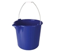 Picture of Industrial Strength Bucket with Metal Handle - 12L BLUE-BUCK369910- (EA)