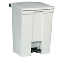 Picture of 68L Rubbermaid Plastic Step on Container / Pedal Bin White - Rubbermaid-BINS386270- (EA)