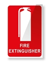 Picture of Extinguisher Location Sign-small Plastic-FIRE839040- (EA)