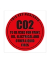 Picture of Fire Extinguisher Sign ID Carbon Dioxide-FIRE839050- (EA)