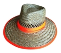 Picture of Broad Brim Straw Hat With High Vis Orange Band-MSAF838105- (EA)