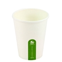 Picture of 12oz Biodegradable Single Wall White Coffee Cup-BIOD076222- (SLV-50)