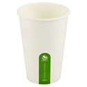 Picture of 16oz Biodegradable Single Wall White Coffee Cup-BIOD076224- (SLV-50)