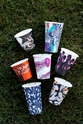 Picture of 12oz Biodegradable Single Wall Coffee Cup - Gallery Series (Mixed Print Selection)-BIOD076232- (SLV-50)