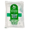 Picture of Enviro Degradable Kitchen Tidy Bin Liner 36L - Clear-KITB024130- (CTN-500)