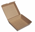 Picture of Cardboard Dinner Box Kraft Board - 178mm x 160mm Base Dimensions x 72mm High-SNAK153288- (CTN-150)