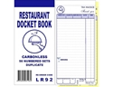"Picture of Restaurant Docket Books Duplicate 93mm x 196mm with seperate ""Drinks"" section 50's-DKTB338470- (SLV-10)"