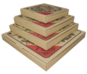 Picture of Pizza Box 11in Cardboard Printed-PIZZ155450- (SLV-100)