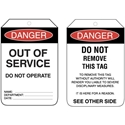 Picture of Tag PVC - Out Of Service-LABE642565- (PACK-100)