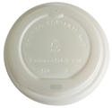 Picture of  Biodegradable Coffee Cup Lid Suits 8/12/16oz Envirochoice Single & Double Wall & Gallery Series Cup-BIOD076290- (SLV-25)