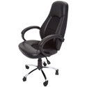 Picture of Chair vinyl and upholstered inlay  - Includes arms - BLACK-FURN358746- (EA)
