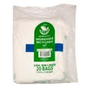 Picture of Garbage Bin Liners 75L Clear Biodegradable - 940 x 745mm-GARB025357- (SLV-50)