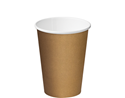 Picture of 12oz Single Wall Coffee Cups - Brown - Castaway-HCUP107906- (CTN-1000)