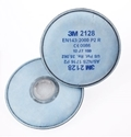 Picture of 3M 2128 Respirator Particle Nuis Ov/AG GP2 Filters to suit 6000 Series -Round-fits directly to mask-RESP823830- (EA)