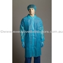Picture of Disposable Non-Woven Labcoat Blue-APPR495224- (CTN-100)